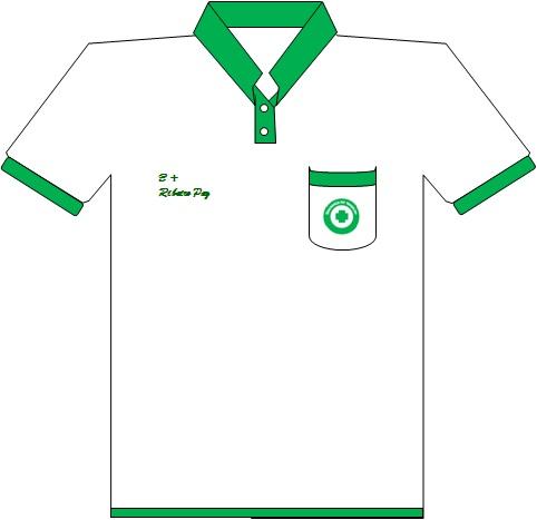 Camisa Gola P  Lo Cor Branca E Cor Verde  Bainha  Extremidade Das